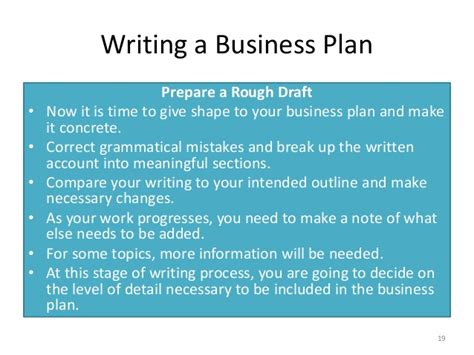 preparing a business plan template a business plan