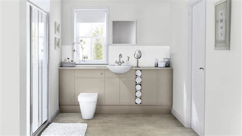 clerkenwell gloss cashmere bathroom fitted bathrooms