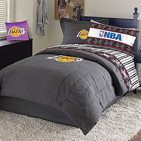 nba comforter sets nba los angeles lakers comforter set bed bath beyond