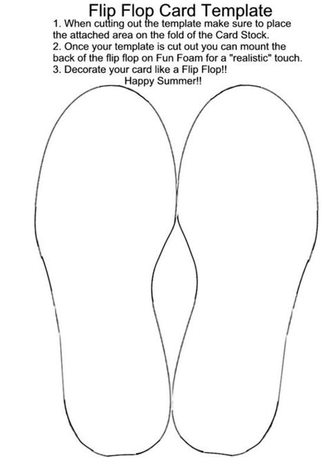 Flip Flop Card Template patty s card flip flop card template by candykaner