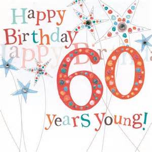 Happy 60th Birthday Cards Flowers And Butterflies 60th Birthday Card Karenza Paperie
