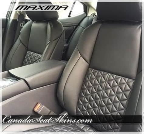 nissan maxima quilted custom leather upholstery