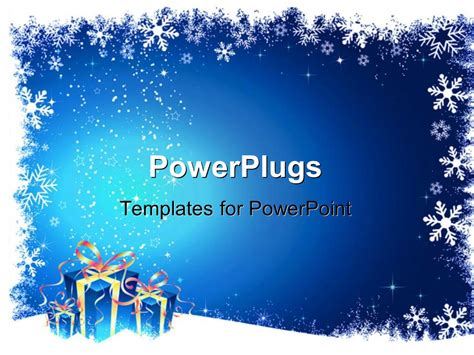 Powerpoint Template A Number Of Gifts And Signs For Christmas Celebrations 7227 Microsoft Powerpoint Templates Snowflakes