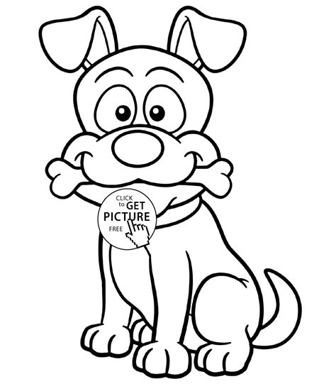coloring pictures of a dog free image