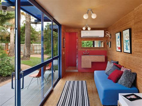 interior of shipping container homes shipping container guest house by jim poteet architecture design