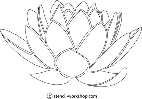 9 best images of lotus flower stencils free printable
