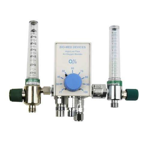 Regulator Blender bio med devices 2004f7015 air oxygen blender
