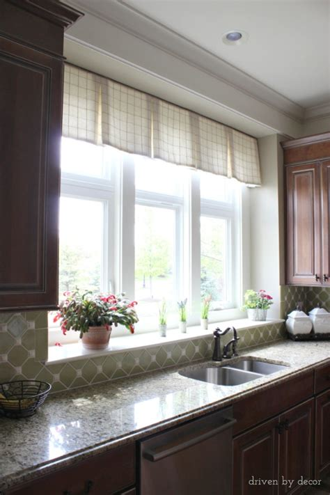 Window Treatments For Those Tricky Windows Driven By Decor Kitchen Window Treatments Above Sink
