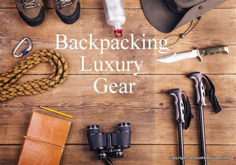 Luxury Giveaways - what luxury items do you bring on backpacking trips section hikers backpacking blog