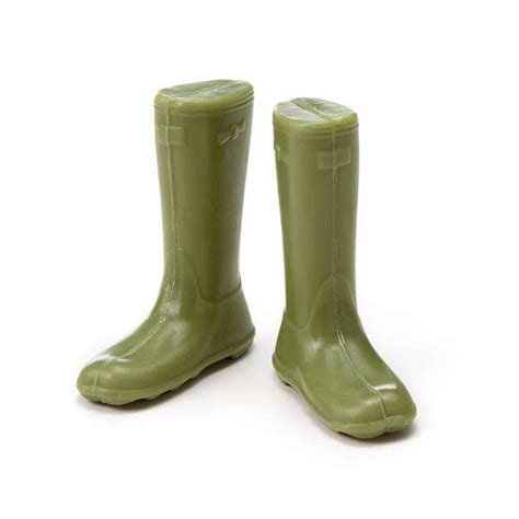 rubber boot shaped suds garden boots soap set
