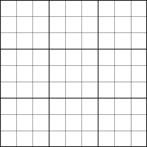 Blank Sudoku Printable