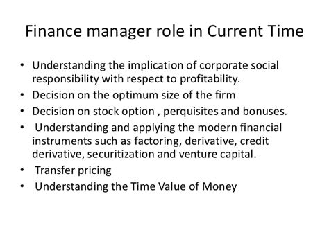 financial manager duties finance manager employment contract 2 information about what the