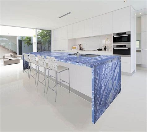Marble Kitchen Design by Unique Blue Marble Countertops Contemporary Kitchen