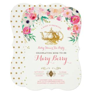Tea Baby Shower Invites by Tea Invitations 2100 Tea Announcements Invites