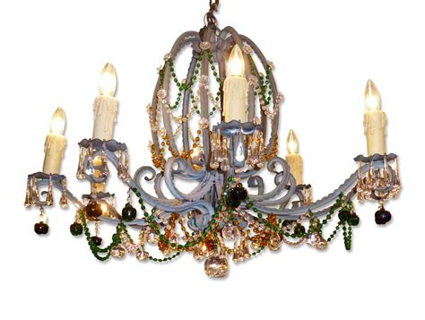 Multi Colored Chandelier Lighting Antique Nouveau Multi Colored Chandelier Olde Things