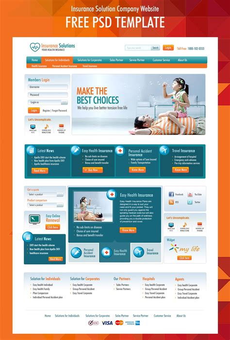 Free Corporate And Business Web Templates Psd Free Department Website Templates