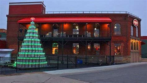 genesee brewing company s keg christmas tree brings on the
