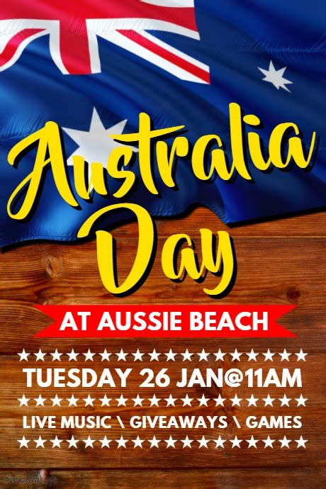 day poster template australia day poster template postermywall