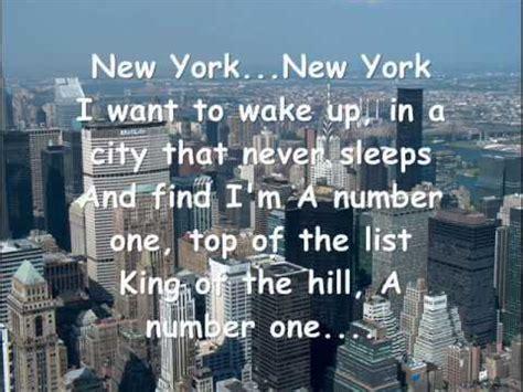 new york new york frank sinatra youtube