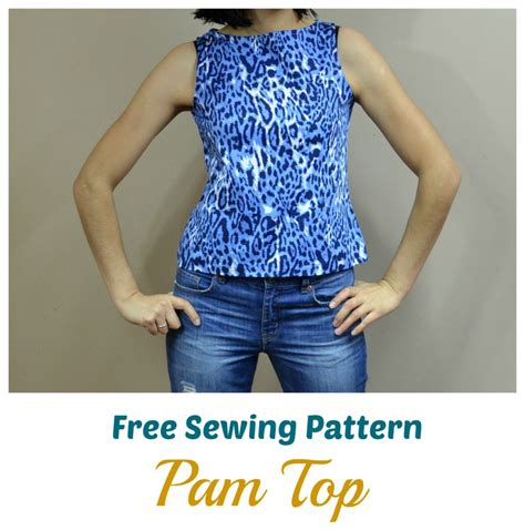 free sewing patterns and tutorials on the cutting floor free sewing pattern pam top on the cutting floor
