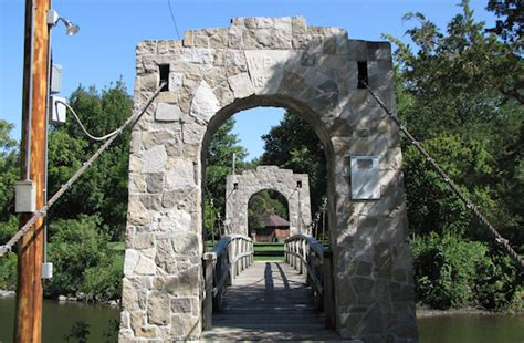 the swinging bridge story feature swinging bridge and carousel story city iowa