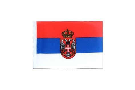 drapeau serbie fanion serbie avec blason 10 x 15 cm monsieur des drapeaux