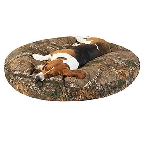 camo dog beds realtree xtra camo dog bed round canvas blanket warehouse