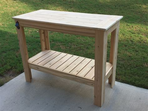 outdoor cooking prep table white grilling table diy projects
