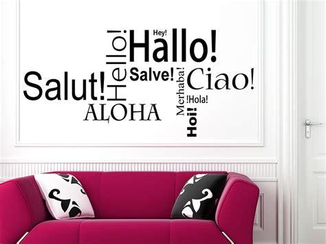 Mit Freundlichen Grüßen Italienisch Wandtattoo Worte Hey Hallo Aloha Homesticker De