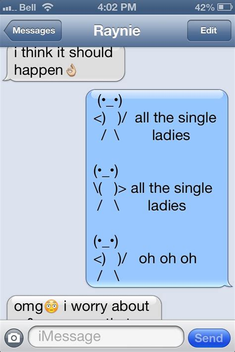All the single ladies text meme video
