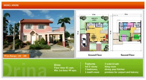camella drina floor plan drina home plans ideas picture