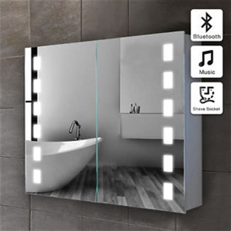 illuminated led bathroom glass mirror bluetooth 500 x led illuminated bathroom mirror cabinet bluetooth shaver