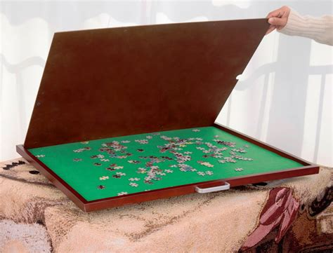 Portable Puzzle Mat by Jigsaw Puzzle Mat Storage Table Wooden Portable Spinning