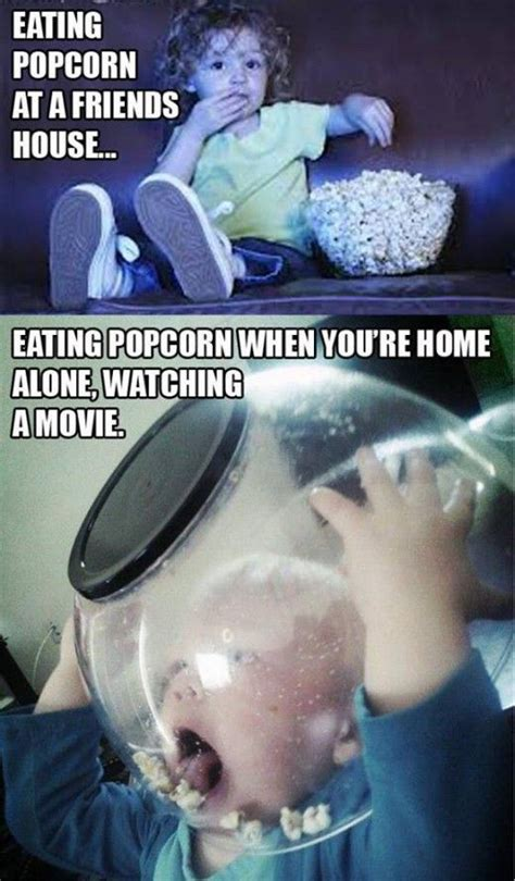 Eating Popcorn Meme - how i really eat popcorn funny memes