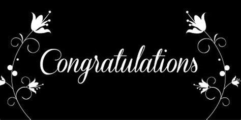 Wedding Congratulation Signs by Congratulations Banner Black