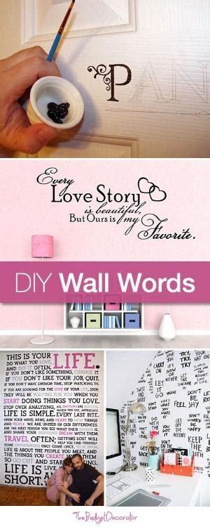 ten walls tutorial diy wall words tutorials and ideas