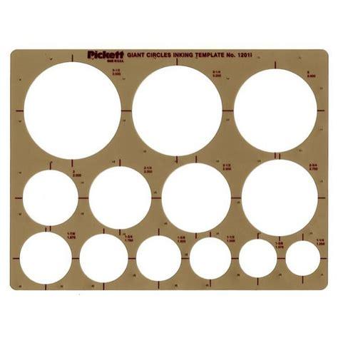 Pickett Giant Circles Template 1201i Pickett Drafting Templates