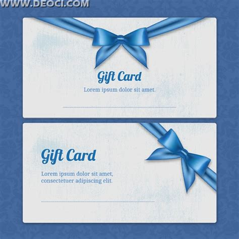 beautiful blue gift card design template ai download