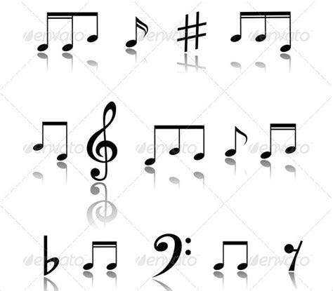 musical note template 9 free pdf eps format download
