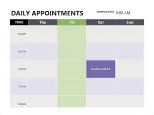 Hair Salon Appointment Book Template by Appointment Schedule Template 7 Free Sle Exle