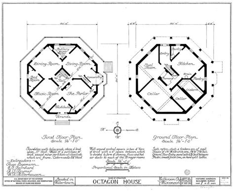 dymaxion house floor plan watertown octagon house floor plans drawn circa 1935
