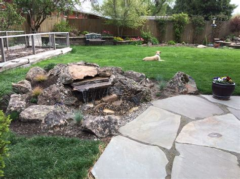 backyard pond care water fountain pond farwest landscape boise idaho