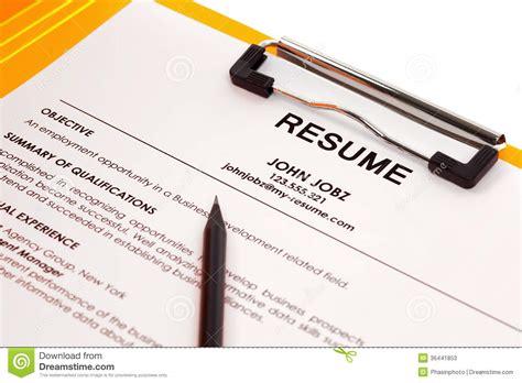 Resume Folder Resume In Folder Stock Photos Image 36441853