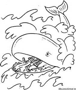 jonah obeys coloring page dibujo de jon 225 s y la ballena