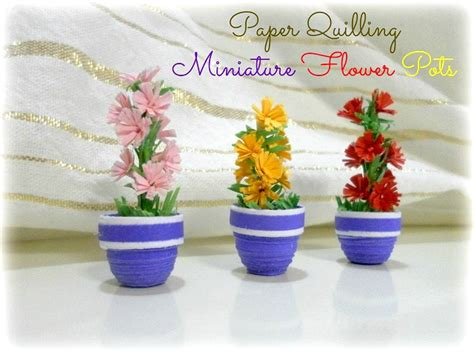Paper Quilling How To Make Flowers - how to make a paper quilling 3d flower pot paper