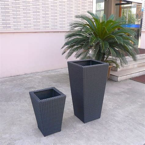 outdoor planters flower planter pots rattan garden pots