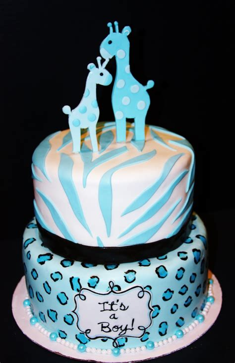 Leopard Baby Shower Cakes by Blue Leopard Zebra Baby Shower Cake Cakecentral