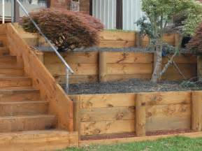 retaining walls timber retaining walls sleepers diy