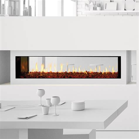 60 Gas Fireplace by Heat Glo Primo 60 See Through