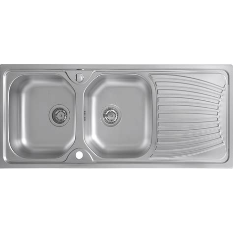 evier inox 2 bacs egouttoir evier inox anti rayure